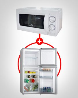 Microwave Oven and Refrigerator Bundle