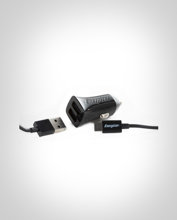 ENERGIZER CAR CHARGER 2.4A 2USB