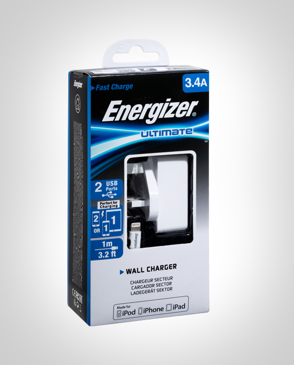 ENERGIZER WALL CHARGER 3.4A 2 USB UK