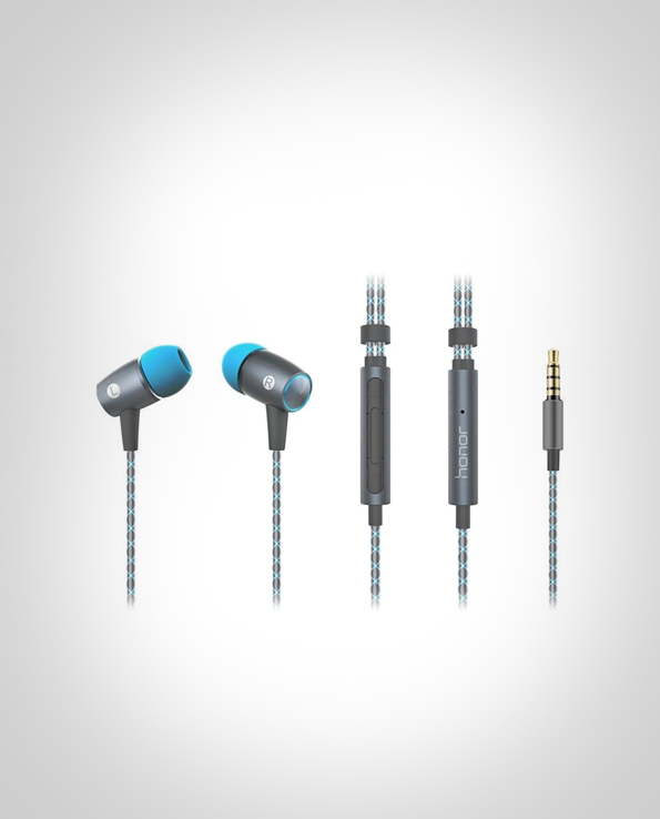 Huawei AM12 Plus In-ear Earphone Built-in Mic Headphone Universal 3.5mm Jack – GRAY