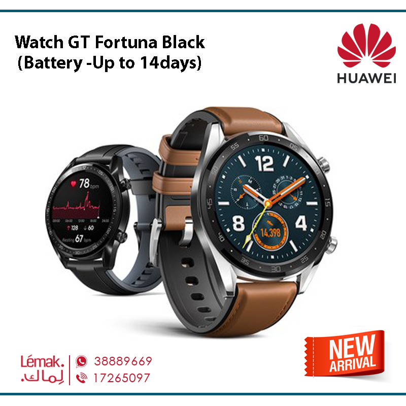 Watch GT Fortuna Black (Battery -Up to 14days)
